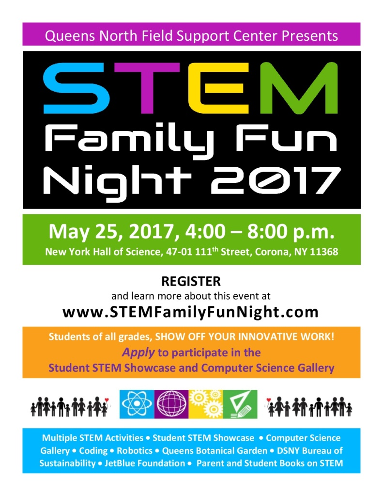 STEM Family Fun Night May 25th