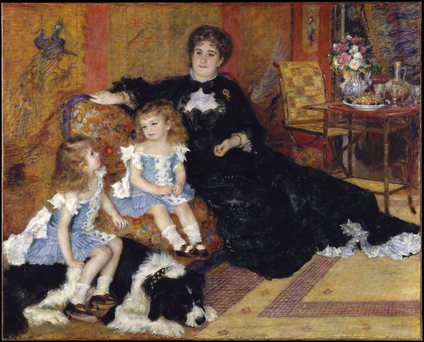 February 2020 Lobby Painting, Madame Charpentier and Her Children By Pierre Auguste Renoir